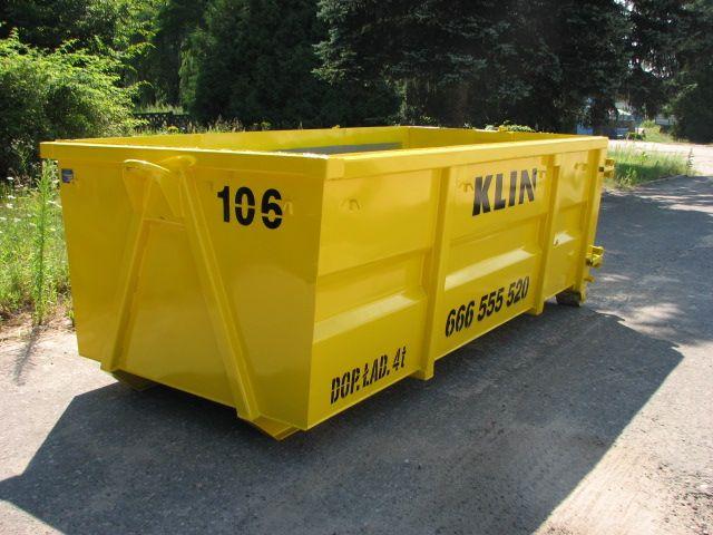 Ogromny Kontenery na gruz, śmieci i odpady budowlane | Klin UG31